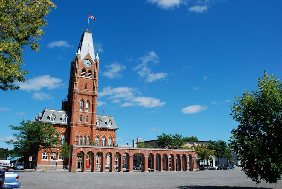 """City hall in Belleville, Ont., which ranked as the fourth hottest """"growth city"""" in Canada over the past year, according to data from U-Haul. (Photo: Stephen Heard via Getty Images)"""