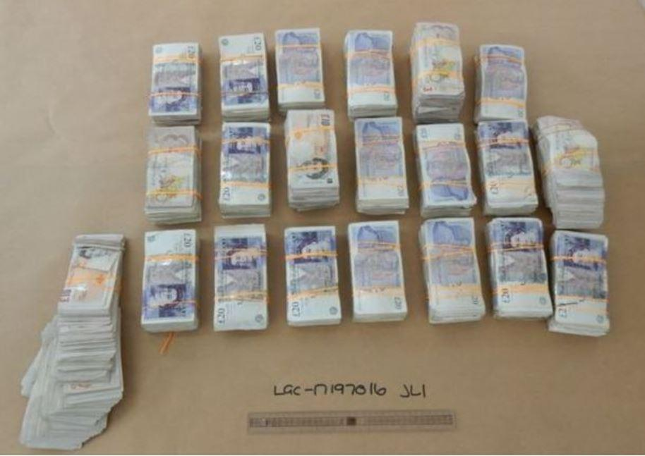 More than £205,000 in cash was uncovered by police after a raid in Warrington. (Reach)