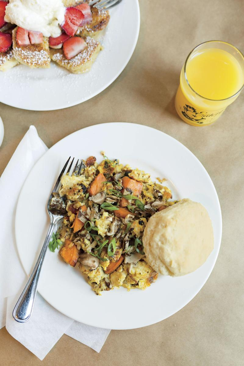 Head to breakfast spot Early Girl Eatery for a Local Sausage & Sweet Potato Scramble. | Cameron Reynolds