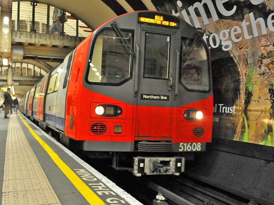 A Northern Line train pulls into a station (PA)