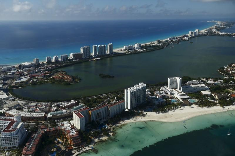 <p>Tourism and development of the land are causing issues. An aerial view of resort hotels in Cancun, August 13, 2015.<i> (Photo: Reuters/Edgard Garrido)</i><br></p>