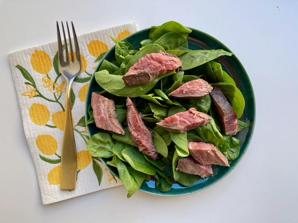 Flank steak stands up well against tangy sauces and dressings, so it works great in salads, for example. (Ali Rosen)