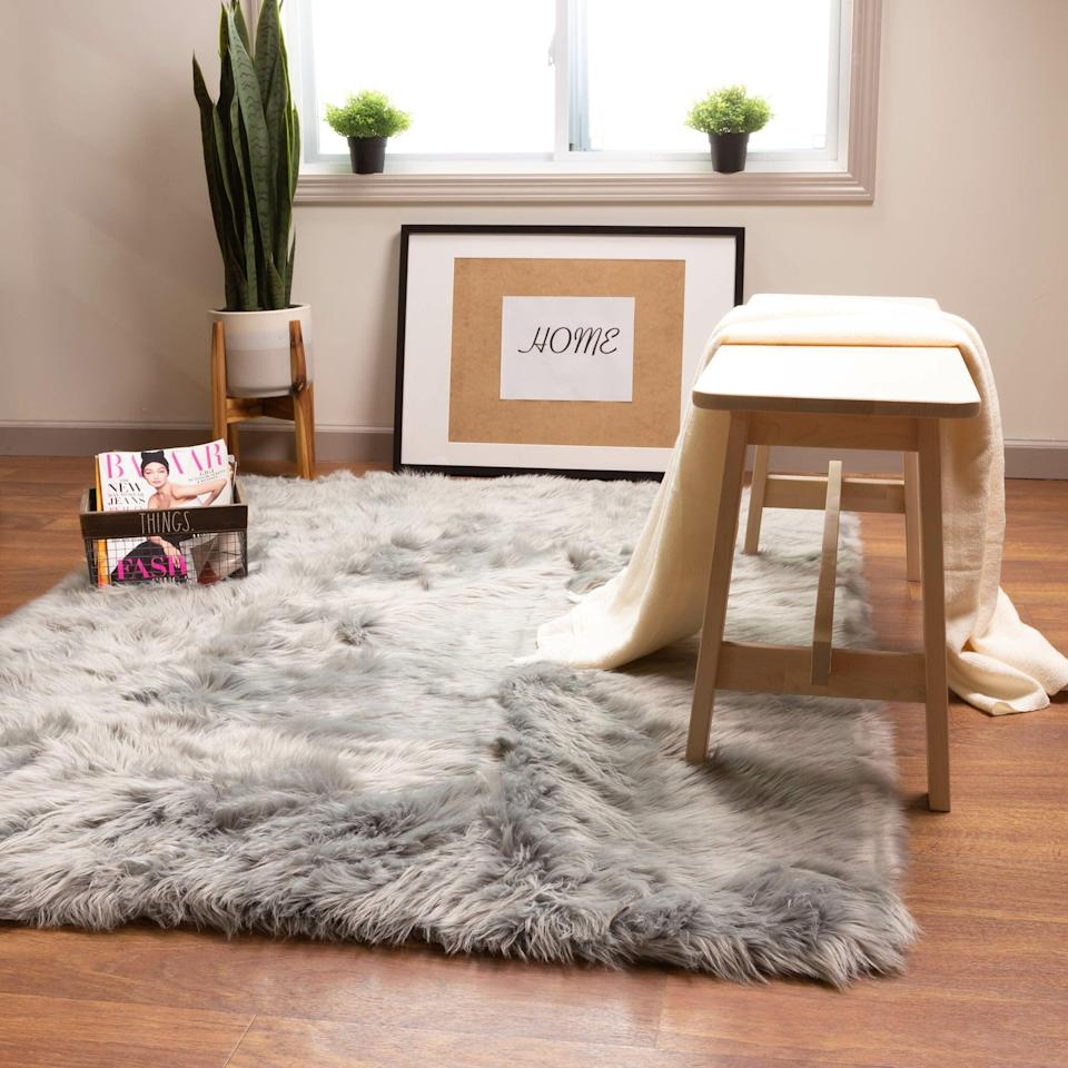 "<br><br><strong>House of Hampton</strong> Charlotte Handmade Shag Gray Area Rug, $, available at <a href=""https://go.skimresources.com/?id=30283X879131&url=https%3A%2F%2Fwww.wayfair.com%2Frugs%2Fpdp%2Fhouse-of-hampton-charlotte-handmade-shag-gray-area-rug-w001664887.html"" rel=""nofollow noopener"" target=""_blank"" data-ylk=""slk:Wayfair"" class=""link rapid-noclick-resp"">Wayfair</a>"