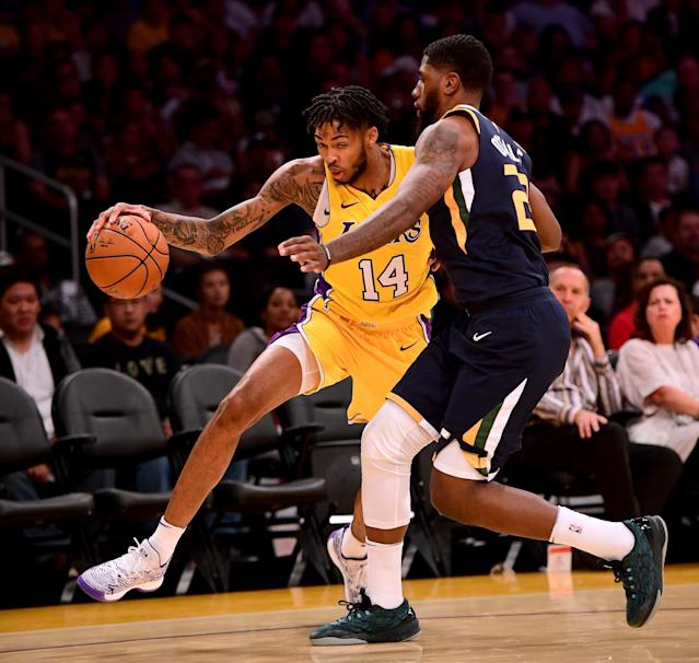 Brandon Ingram's being counted on to produce in a big way in his second season in L.A. (Getty)