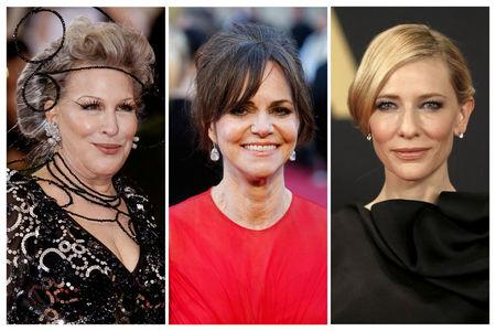 FILE PHOTO: Actresses Bette Midler, Sally Field and Cate Blanchett