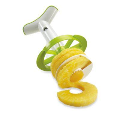 "<h3><a href=""https://www.bedbathandbeyond.com/store/product/tomorrow-39-s-kitchen-4-in-1-pineapple-slicer-with-wedge/1018145375"" rel=""nofollow noopener"" target=""_blank"" data-ylk=""slk:Tomorrow's Kitchen 4-in-1 Pineapple Slicer"" class=""link rapid-noclick-resp"">Tomorrow's Kitchen 4-in-1 Pineapple Slicer</a></h3> <br>Embrace the flavor of summer with this nifty gadget that works like a corkscrew for slicing your pineapple up just right. No big knives necessary here. <br><br><strong>Tomorrow's Kitchen</strong> 4-in-1 Pineapple Slicer with Wedge, $, available at <a href=""https://go.skimresources.com/?id=30283X879131&url=https%3A%2F%2Fwww.bedbathandbeyond.com%2Fstore%2Fproduct%2Ftomorrow-39-s-kitchen-4-in-1-pineapple-slicer-with-wedge%2F1018145375"" rel=""nofollow noopener"" target=""_blank"" data-ylk=""slk:Bed Bath & Beyond"" class=""link rapid-noclick-resp"">Bed Bath & Beyond</a><br>"