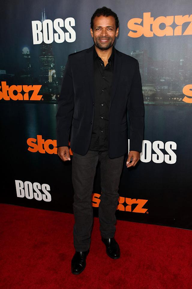 "<a href=""/mario-van-peebles/contributor/36915"">Mario Van Peebles</a> arrives at the premiere of Starz's ""<a href=""/boss/show/46953"">Boss</a>"" at ArcLight Cinemas on October 6, 2011 in Hollywood, California."