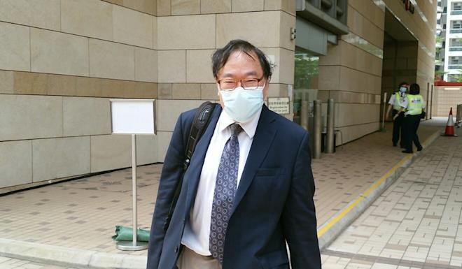 Medical expert Philip Beh leaves West Kowloon Court after testifying on Wednesday. Photo: Brian Wong
