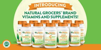 Introducing: Natural Grocers Brand Vitamins and Supplements. Available at all 161 locations, the comprehensive range of more than 100 vitamins, herbs, minerals, and precision formulas are priced for accessibility while providing high quality ingredients and third-party certified Good Manufacturing Practices. For the month of May, {N}Power members will receive 25% off the complete line.
