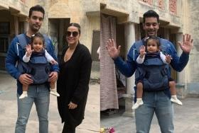 Isn't she cute? First clear picture of Neha Dhupia and Angad Bedi's daughter Mehr shared by grandpa