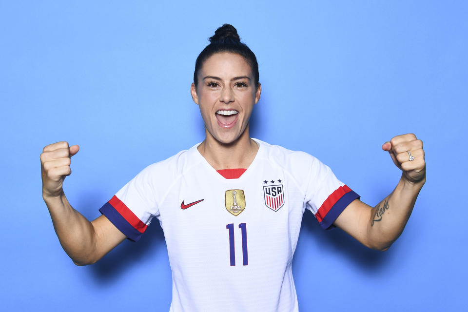 Ali Krieger won't go to Donald Trump's White House, and will stand by her teammate Megan Rapinoe. (Photo by Michael Regan - FIFA/FIFA via Getty Images)