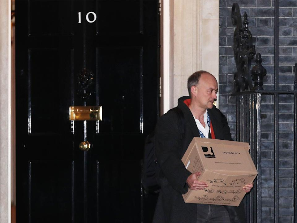 <p>Boris Johnson's former top aide Dominic Cummings leaves No 10 on 13 November</p> (PA)
