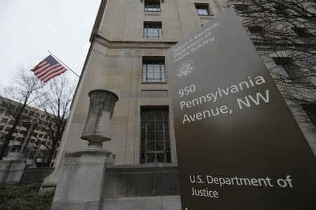 The Justice Department is seen in Washington