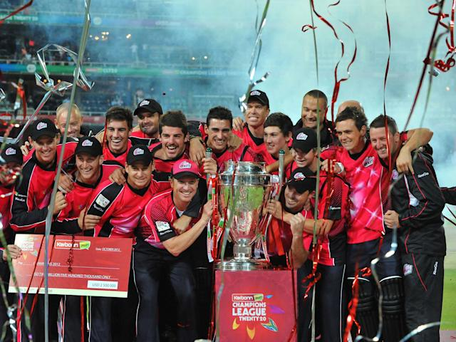 The Sydney Sixers celebrate their 2012 CLT20 triumph: Getty