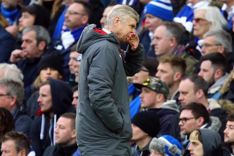 Arsenal's away-day blues continued at Brighton on Sunday (PA)