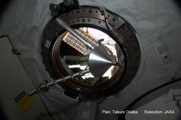 This spinning top creates amazing light art on the International Space Station. Image uploaded Feb. 11, 2013.