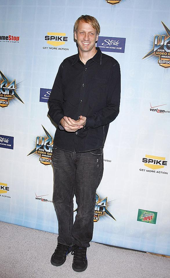 """Pro boarder Tony Hawk has 10 video games in his popular Pro Skater/Skateboarding series. Jeffrey Mayer/<a href=""""http://www.wireimage.com"""" target=""""new"""">WireImage.com</a> - December 14, 2008"""