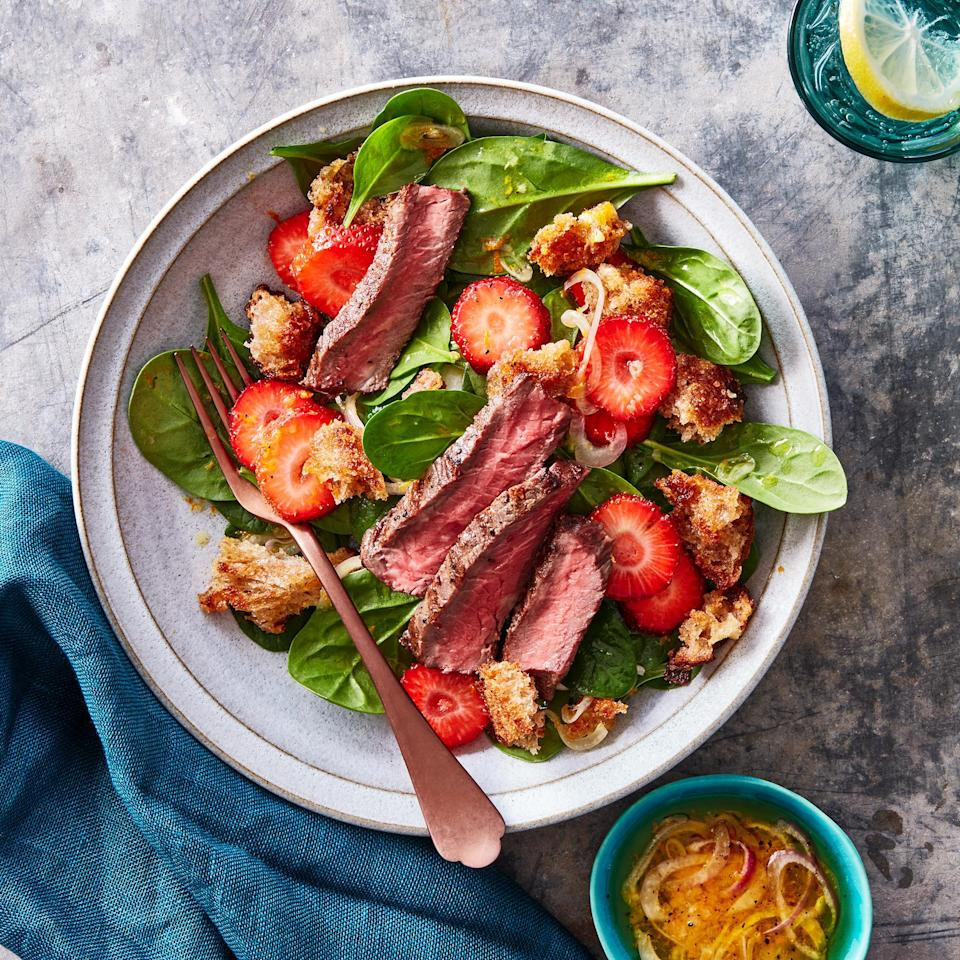 <p>With all due respect to the strawberries, croutons can really make a salad, especially these croutons. Instead of tossing them with oil and baking them, we start the bread and oil in a cold saucepan for the crunchiest results.</p>