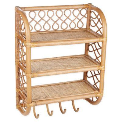 "<h3><a href=""https://www.bedbathandbeyond.com/store/product/global-caravan-trade-rattan-wall-shelf-with-hooks-in-caramel-brown/5318491"" rel=""nofollow noopener"" target=""_blank"" data-ylk=""slk:Global Caravan Rattan Wall Shelf"" class=""link rapid-noclick-resp"">Global Caravan Rattan Wall Shelf</a></h3><br><strong>When your dream bathroom beauty #shelfie is just a dream:</strong> This wall-mounted, triple-tiered stylish rattan solution with four bonus hooks is ready for its Instagram closeup, displaying everything from your enviable skincare routine to favorite tiny succulents. <br><br><strong>Global Caravan</strong> Rattan Wall Shelf with Hooks in Caramel Brown, $, available at <a href=""https://go.skimresources.com/?id=30283X879131&url=https%3A%2F%2Fwww.bedbathandbeyond.com%2Fstore%2Fproduct%2Fglobal-caravan-trade-rattan-wall-shelf-with-hooks-in-caramel-brown%2F5318491"" rel=""nofollow noopener"" target=""_blank"" data-ylk=""slk:Bed Bath and Beyond"" class=""link rapid-noclick-resp"">Bed Bath and Beyond</a>"