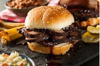 "<p><strong>Barbecue Brisket</strong></p><p>Of course Texas would be known for the Barbecue Brisket. Served on a roll or toast, chopped or sliced barbecue beef is hard to miss in Texas. They're slow-smoked for hours (12-18 to be exact) with fixings that include pickles, onions and jalapeño peppers. Try it at <a href=""https://tylersbarbeque.com/"" rel=""nofollow noopener"" target=""_blank"" data-ylk=""slk:Tyler's Barbeque"" class=""link rapid-noclick-resp"">Tyler's Barbeque</a>. </p>"