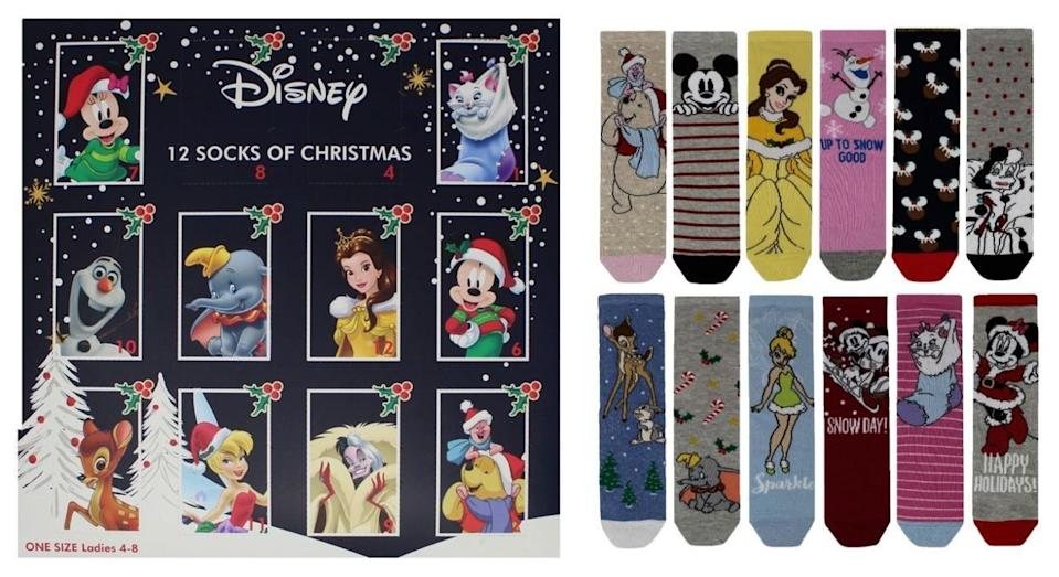 Disney's sock advent calendar is the most magical way to count down the days until Christmas [Photo: Boots]