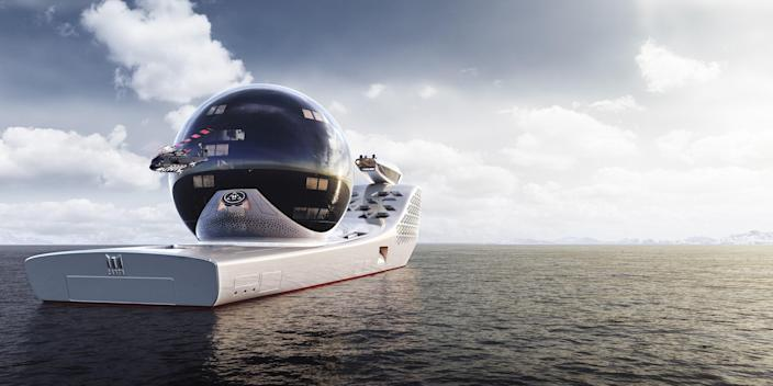 The vessel is designed to house top climate scientists.