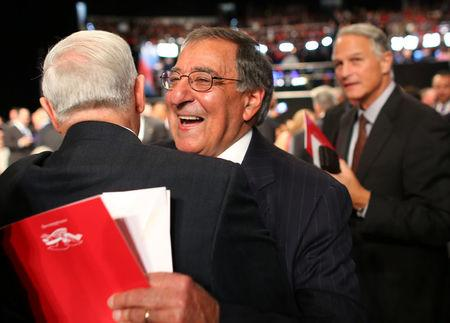 Former U.S. Defense Secretary Leon Panetta arrives. REUTERS/Mike Blake