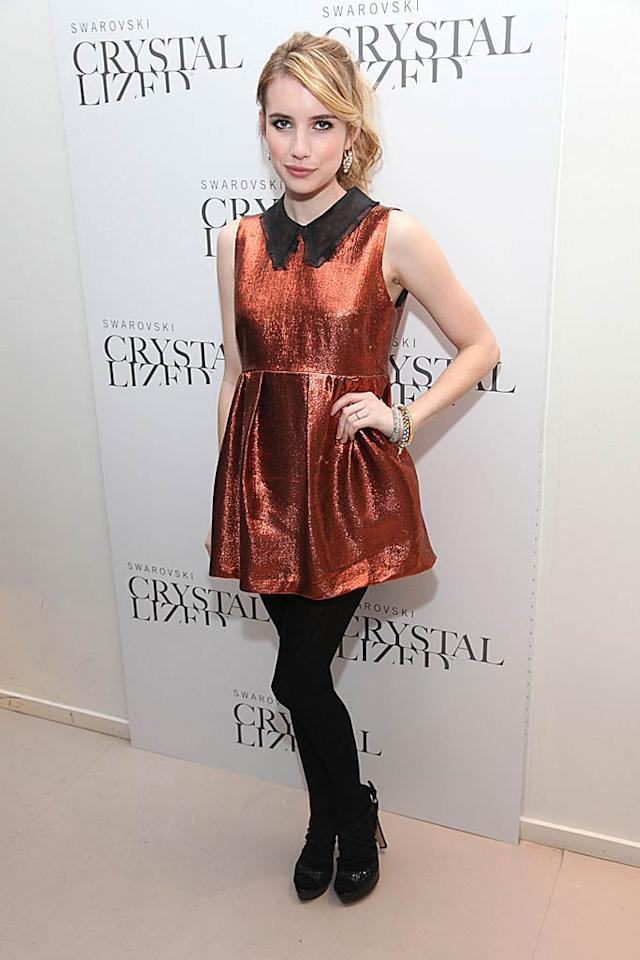 Is that Emma Roberts or a Duracell battery in heels? We can't tell. (10/18/11)
