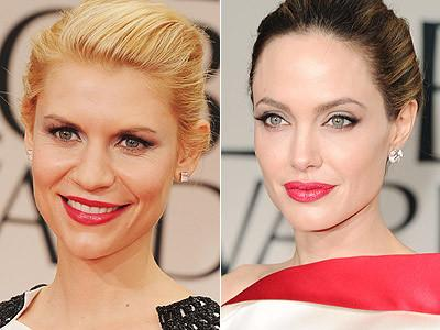<p>Claire Danes and Angelina Jolie perfect their pout with beautiful, berry coloured lips.</p>
