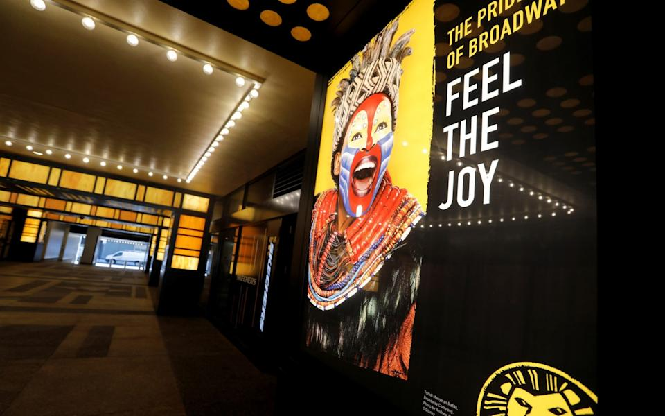 Broadway theatres are set to remain closed until May 2021 in New York - Mike Segar/Reuters