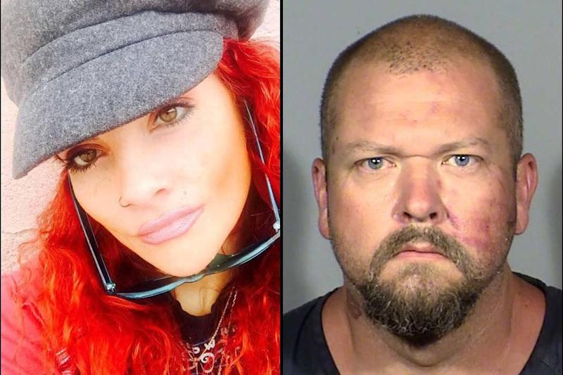 Ms Martinez, who died after being beaten by her ex-boyfriend Christopher Wood (right) had predicted her death online, recounting her failed efforts to get help from police in a series of chilling Facebook posts: Facebook/Las Vegas Metropolitan Police Department