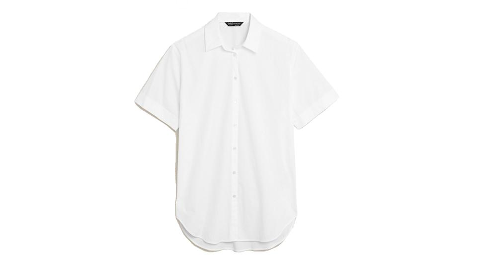 Pure Cotton Oversized Short Sleeve Shirt