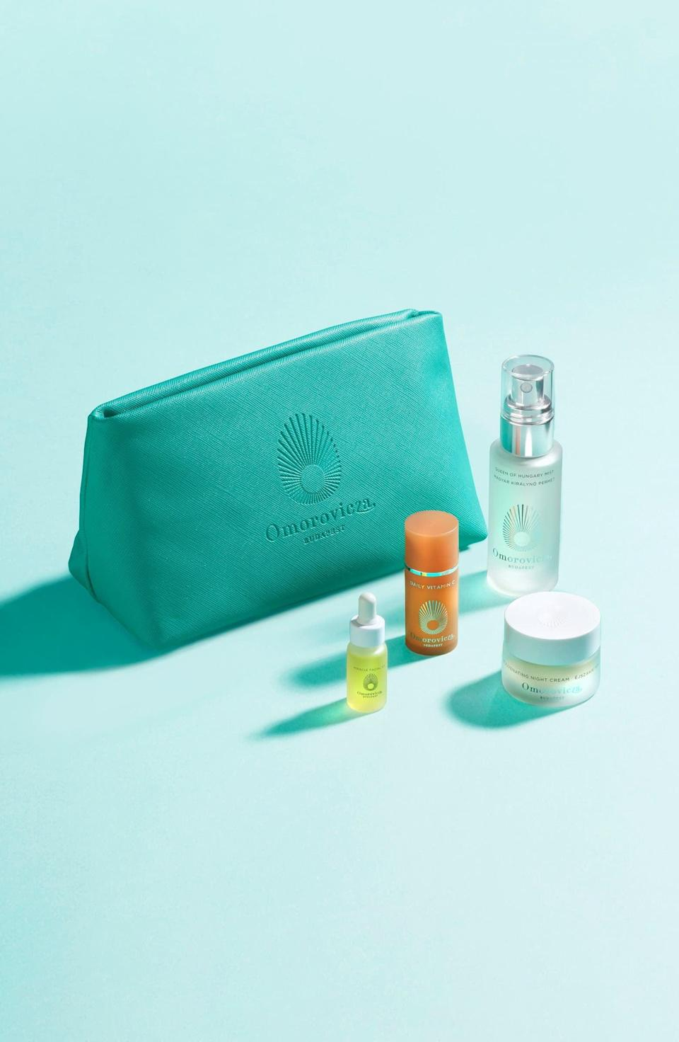 <p><span>Omorovicza Travel Size Queen of Hungary Mist Set</span> ($62, originally $83)</p>