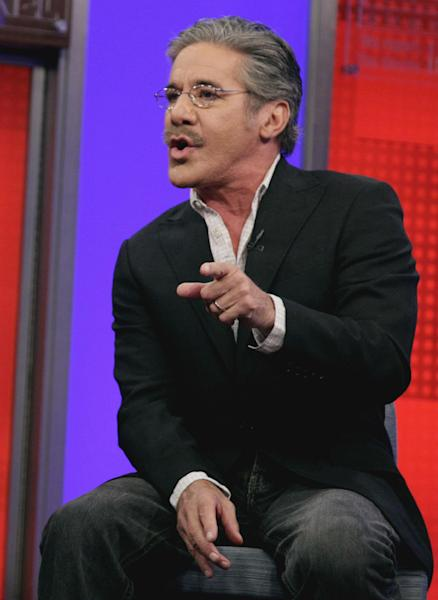 "FILE - In this June 25, 2010 file photo, Fox News Channel commentator Geraldo Rivera speaks on the ""Fox & friends"" television program in New York. Rivera said Friday, March 23, 2012 that Florida teenager Trayvon Martin's hoodie is as much responsible for his death as the neighborhood watch captain who shot him. Rivera said Friday on ""Fox & Friends"" that people wearing hooded sweatshirts are often going to be perceived as a menace regardless. (AP Photo/Richard Drew, file)"