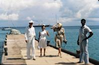 <p>After Colin Tennant gave land on the Caribbean island of Mustique to Princess Margaret as a wedding gift in 1960, she built her own private villa called Les Jolies Eaux. The royal visited often and hosted family, including big sister Queen Elizabeth. </p> <p>Prince William and Kate Middleton have also fallen for the island's quiet charm, bringing their three children on vacation to the tropical paradise.</p>
