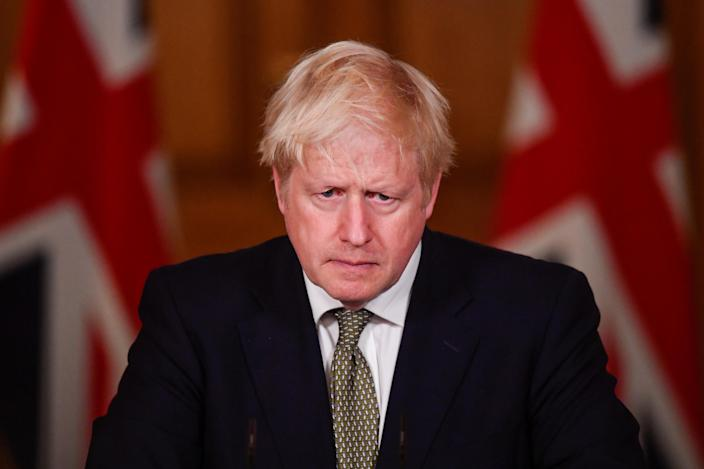 Prime Minister Boris Johnson during a media briefing in Downing Street, London, on coronavirus (COVID-19).