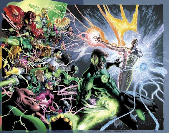 Illustration for the cover of 'Green Lantern' No. 20, due out in May