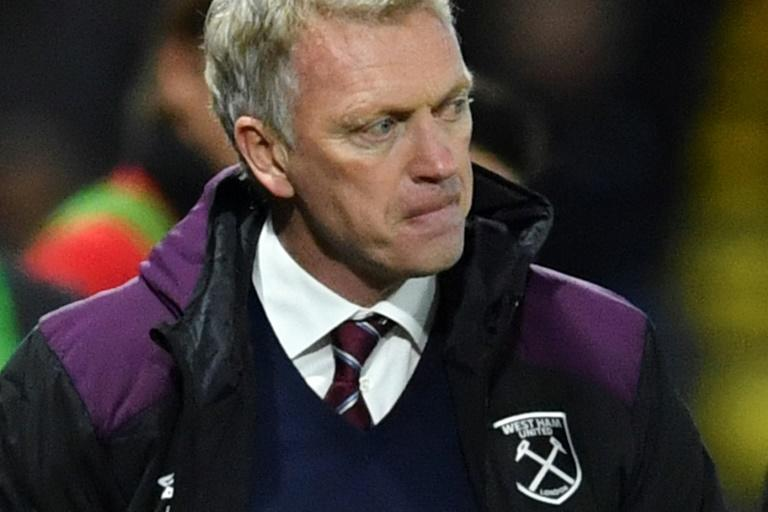 West Ham United's manager David Moyes watches the action from the touchline during the English Premier League football match against Watford November 19, 2017
