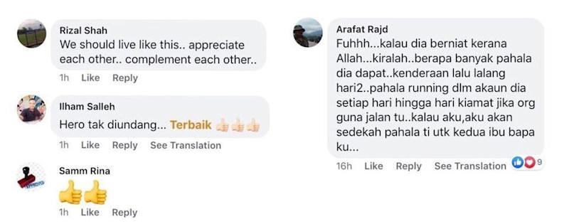 Comments of praise poured in from social media users on Facebook for the Foodpanda rider. — Picture courtesy of Facebook/Dgsw Goh