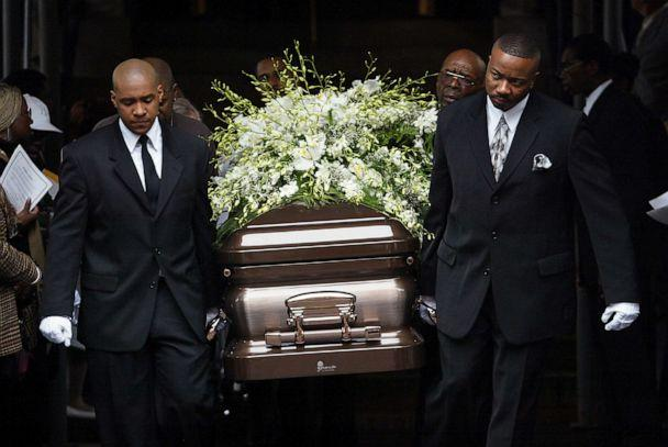 PHOTO: Pallbearers carry the coffin of Alberta Spruill out of Convent Avenue Baptist Church in upper Manhattan after funeral services for the 57-year-old city employee. (Mike Albans/New York Daily News Archive via Getty Images, FILE)