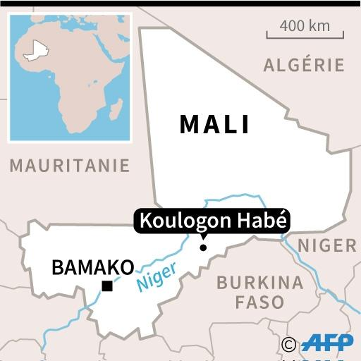 Map of Mali with location of Koulogon Habe (AFP Photo/)