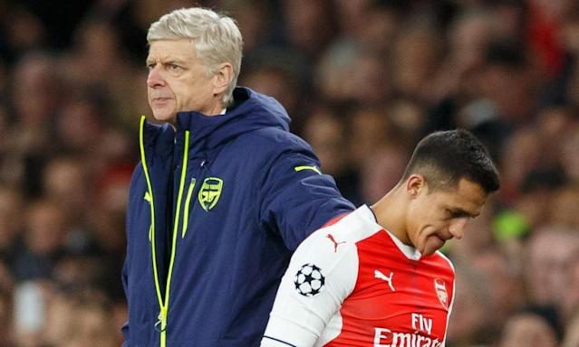 "<span class=""element-image__caption"">Alexis Sánchez has become frustrated as the form of Arsène Wenger's Arsenal side has disintegrated.</span> <span class=""element-image__credit"">Photograph: BPI/Rex/Shutterstock</span>"