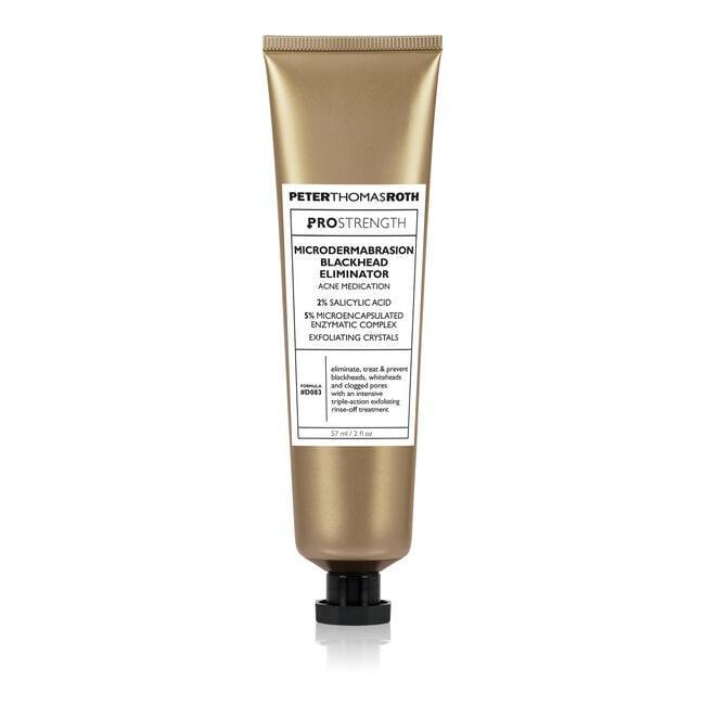 <p>The gritty paste of the <span>Peter Thomas Roth PRO Strength Microdermabrasion Blackhead Eliminator</span> ($68) hits breakouts with triple-action exfoliation. The combination of chemical, enzymatic, and physical exfoliation removes dirt from deep within your pores.</p>