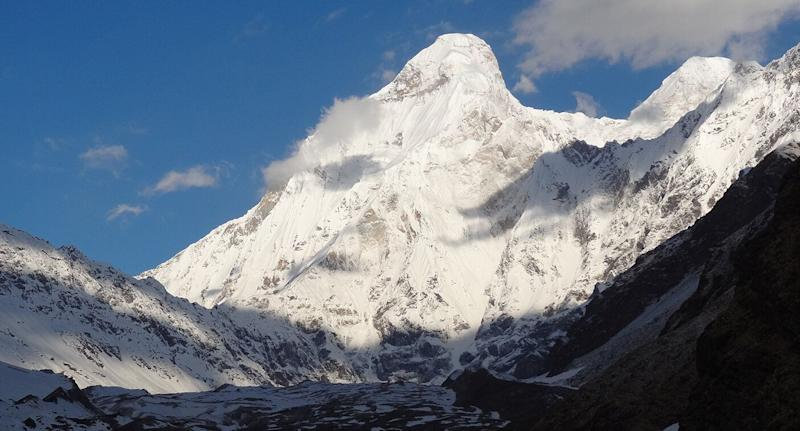 The Australian woman was attempting to reach the unclimbed Nanda Devi, which is pictured here, in Uttarakhand, India.