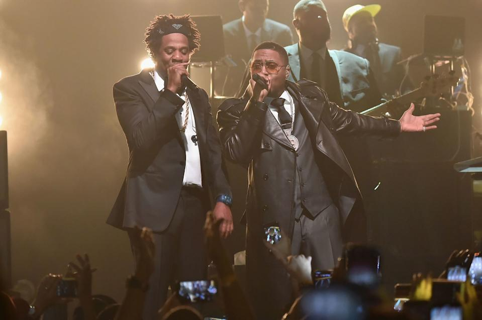 JAY-Z and Nas. Photo by Theo Wargo/Getty Images for Roc Nation