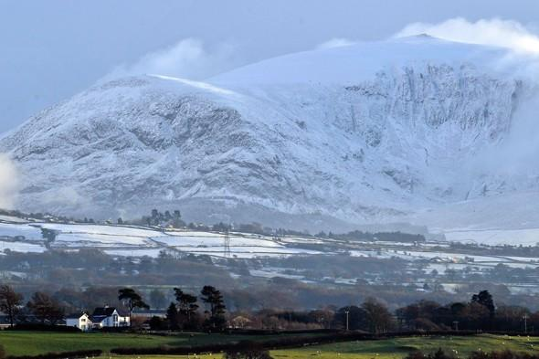 Climber dies after falling 100ft from snow-covered mountain in Snowdonia