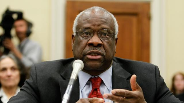Justice Clarence Thomas Speaks in Court for the First Time in a Decade