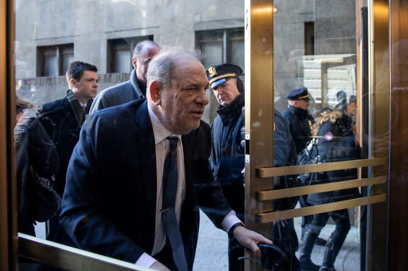 Film producer Harvey Weinstein arrives at New York Criminal Court for his sexual assault trial in the Manhattan borough of New York City