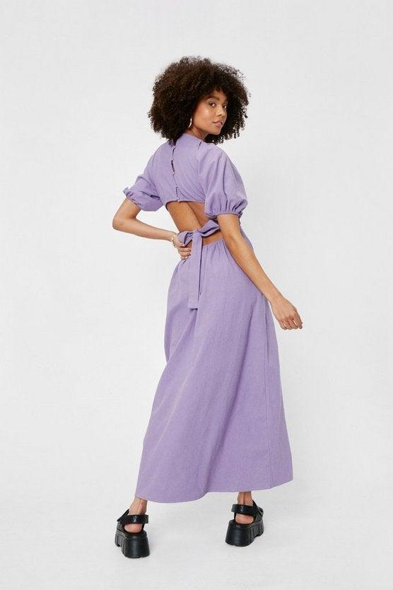 """<br><br><strong>Nasty Gal</strong> Linen Cut Out Open Back Midi Dress, $, available at <a href=""""https://go.skimresources.com/?id=30283X879131&url=https%3A%2F%2Fwww.nastygal.com%2Flinen-cut-out-open-back-midi-dress%2FAGG02911.html"""" rel=""""nofollow noopener"""" target=""""_blank"""" data-ylk=""""slk:NastyGal"""" class=""""link rapid-noclick-resp"""">NastyGal</a>"""