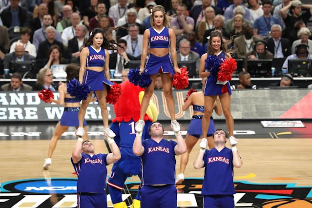 Two Kansas cheerleaders detailed a naked hazing incident that took place during a summer camp for children in 2017, resulting in the team being put on probation. (Getty Images)